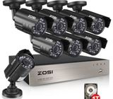 Zosi 8 Channel, 8 Camera 720p 1 TB