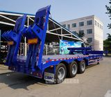 Heavy duty tri axle 40 ton low bed semi trailer lowbed trailer for sale | CIMC TRAILERS