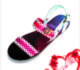 Men Sandals, Double Floral Strap AA