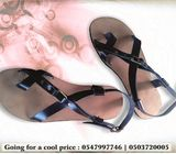 Men Sandals, Double Strap Leather Sandals