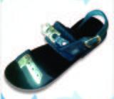 Men Sandals, Single Strap With Metallic Crest