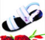 Men Sandals, White Zipper Straps