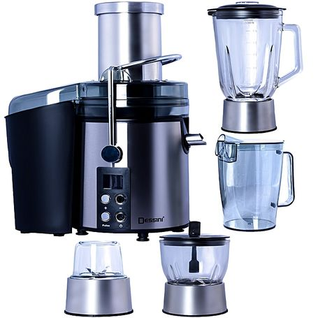 Dessini DS 299 4-in-1 Juice Extractor + Blender - 5 Litre Silver