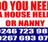 Call your house help and nanny provider now