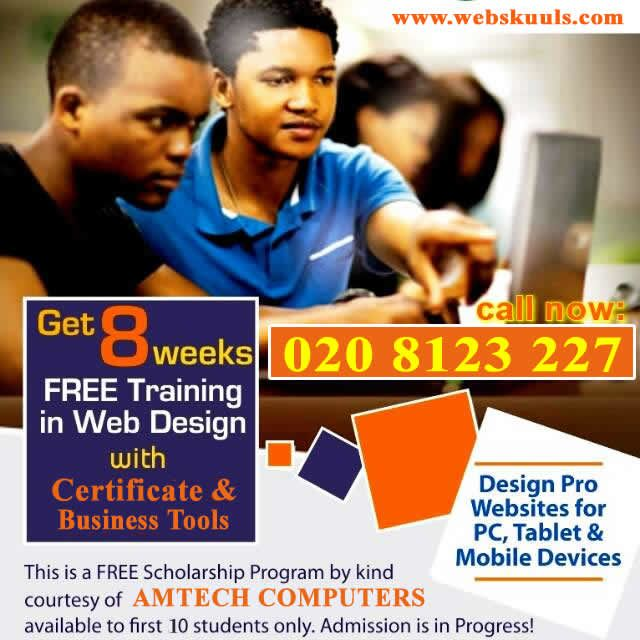 free training in web design and photoshop