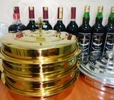 GOLD AND SILVER COMMUNION TRAY SET