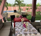 Outdoor 7 seater dining setting