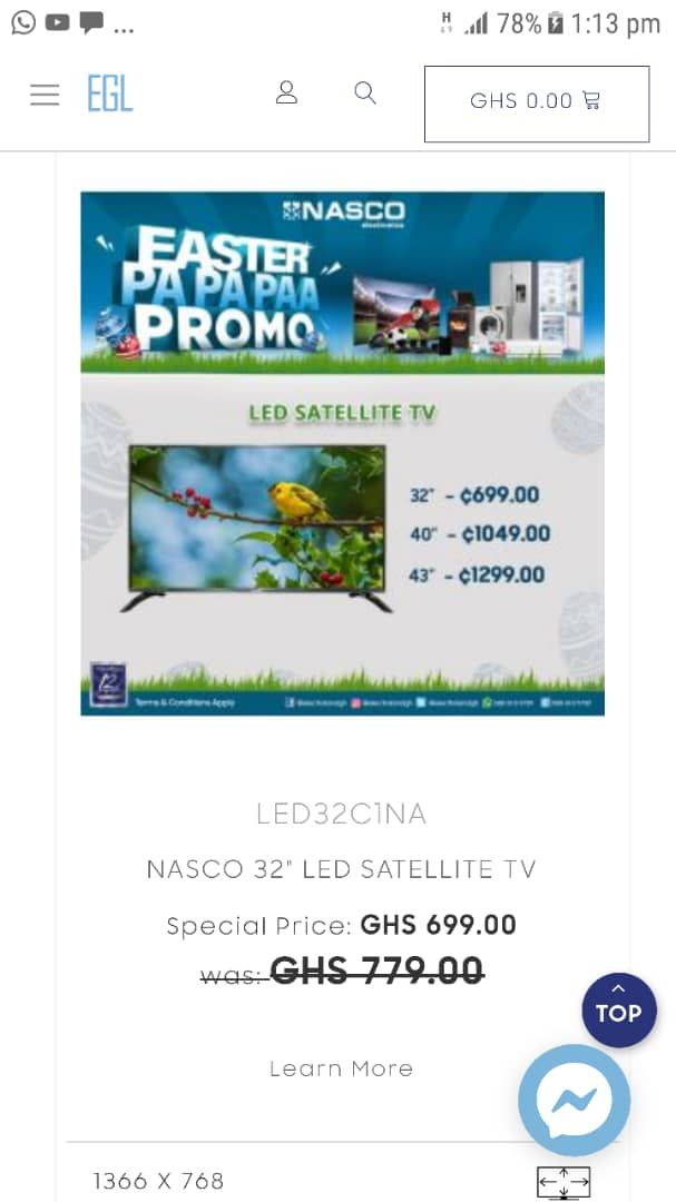 EASTER PROMOTIONS FOR LED TV