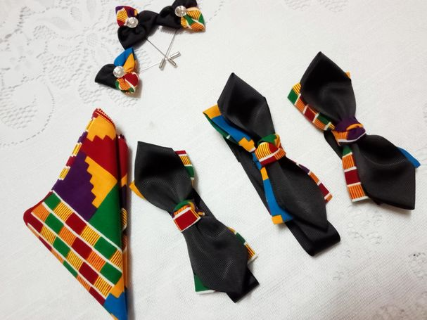 BOW TIE FOR MEN AND BROOCH