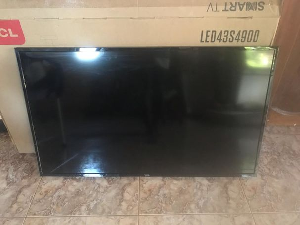43 inches smart satellite TV (Remote, Wall mount and Dish added for free)