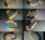 Dazzling creations. Customized wrist beads