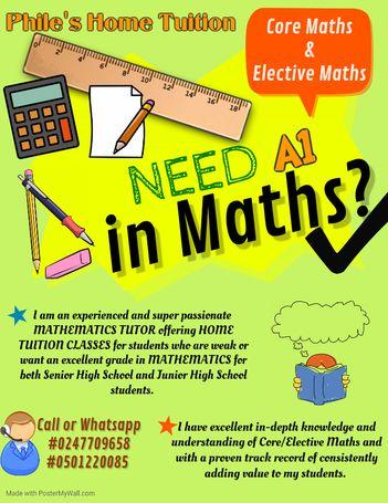 Maths home Tutoring