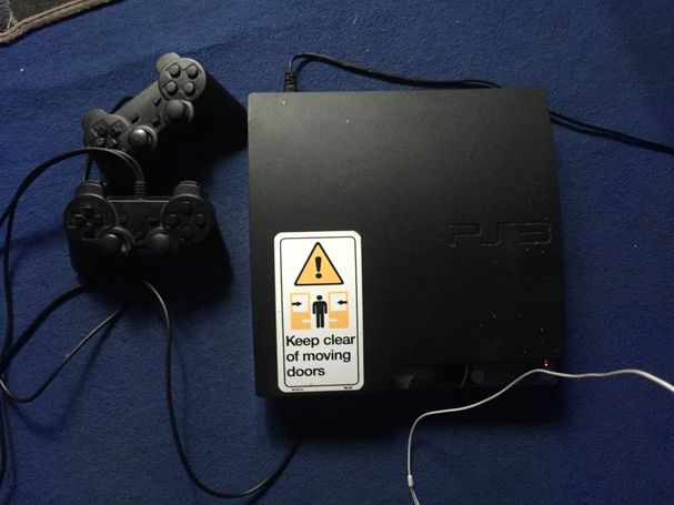 PS3 with games loaded on it
