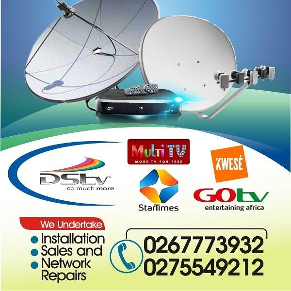 Satellite TV Installation.
