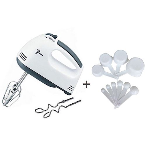 7 Speed Hand Mixer with 10PCS Measuring Cups