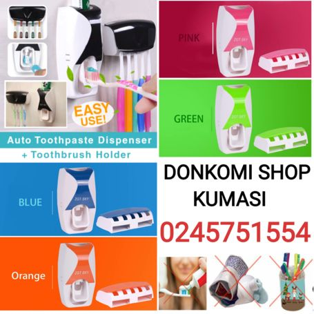 New Automatic Toothpaste Dispenser and Toothbrush Holder
