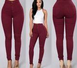 Konga Pencil Stretch Casual Denim Skinny Jeans Pants High Waist Trousers