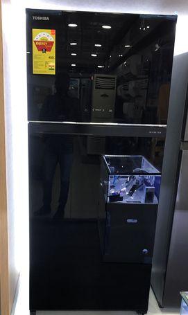 Toshiba Black Mirror Double Door Refrigerator