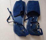 Nice jean ladies sandals
