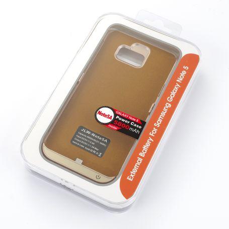 JWL Samsung Galaxy Note 5 power bank case -black