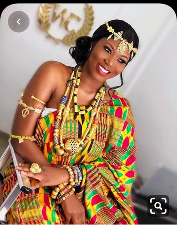 African gold coated brass set up for your luxurious traditional Engagement