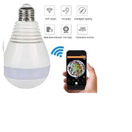 Camera Security with LED Bulb