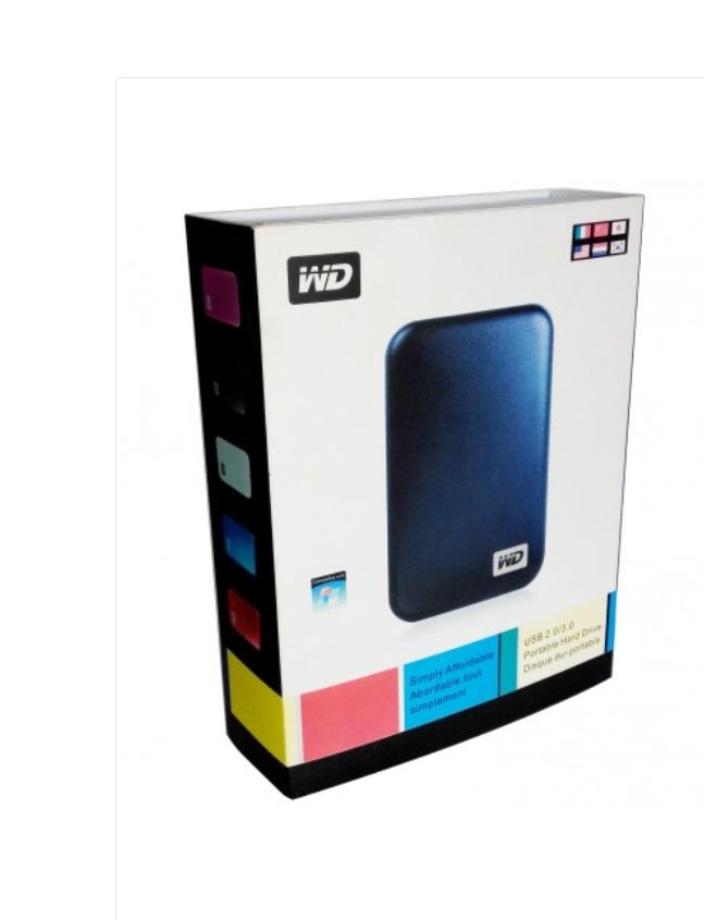 WD 3.0 External Portable Hard Drive Case Black
