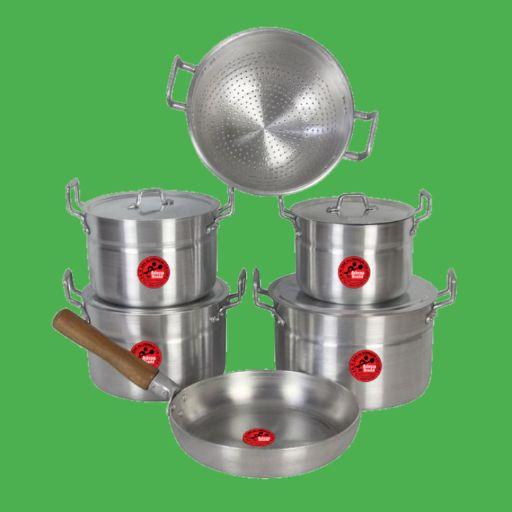 6 set of Aluminum Cooking Utensils