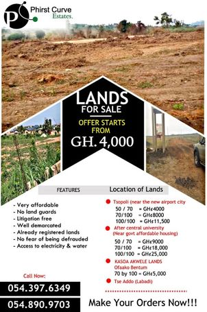 Estate lands For sale