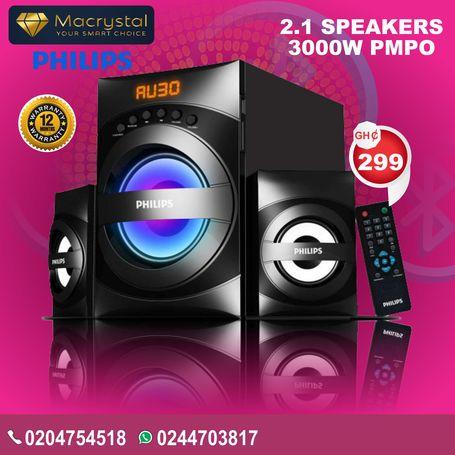 PHILIPS 2.1 SPEAKERS 3000W PMPO