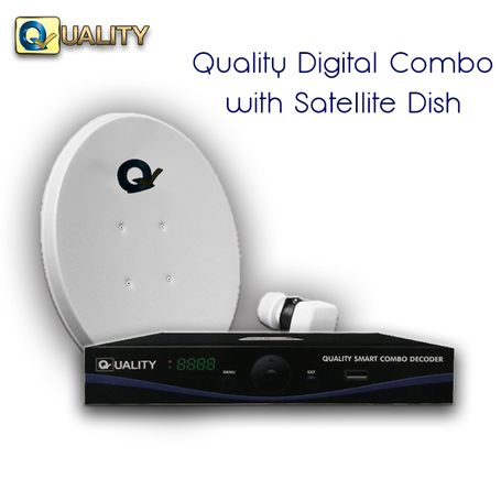 Quality Smart Combo & Internet Decoder with Satellite Dish