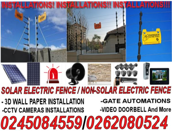 Solar Electric Fence Installations