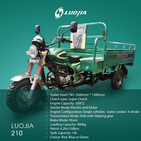 LUO JIA 210cc TRICYCLES