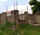 Registered uncompleted storey building in tema com24 estate santeo
