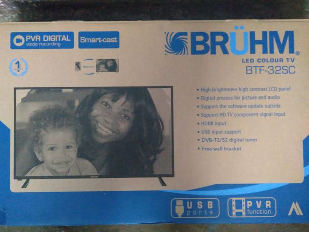 Bruhm 32 inches  Smart Cast Ultra Slim Frame with Full HD digital satellite.