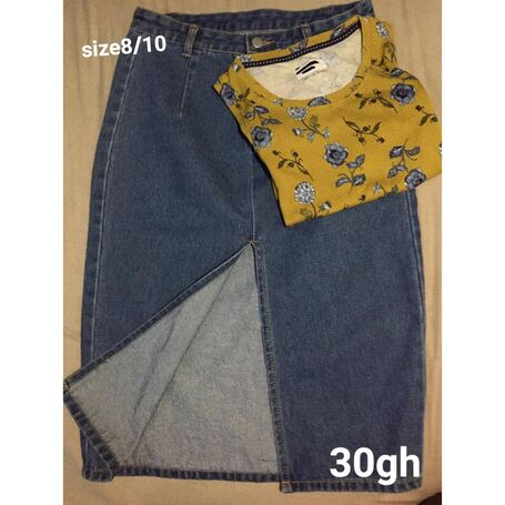 Jeans skirt + top