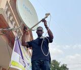 Call for your dstv , gotv , startime, multitv , antenna and tv wall brackets installation