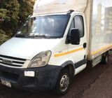Covered truck for hire and for sale