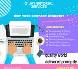 Proofreading and Editorial Services
