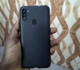 Used Samsung A11 with silicon case in box