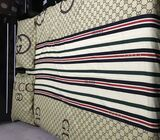 Only the bed frame for sale, mattress excluded. Kindly call 0550388558
