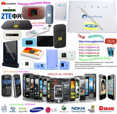 Unlock any modem, mifi, router or phones