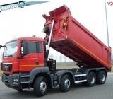 MAN diesel tipper truck