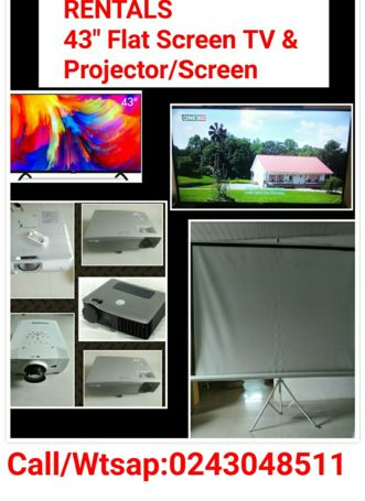 Projector & Screen For Rent