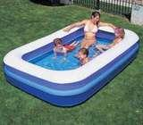 Swimming pool inflateable large regtangular delivery