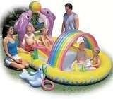 Backyard water slide pool and activity game from US